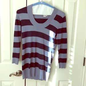 Neiman Marcus blue striped sweater.
